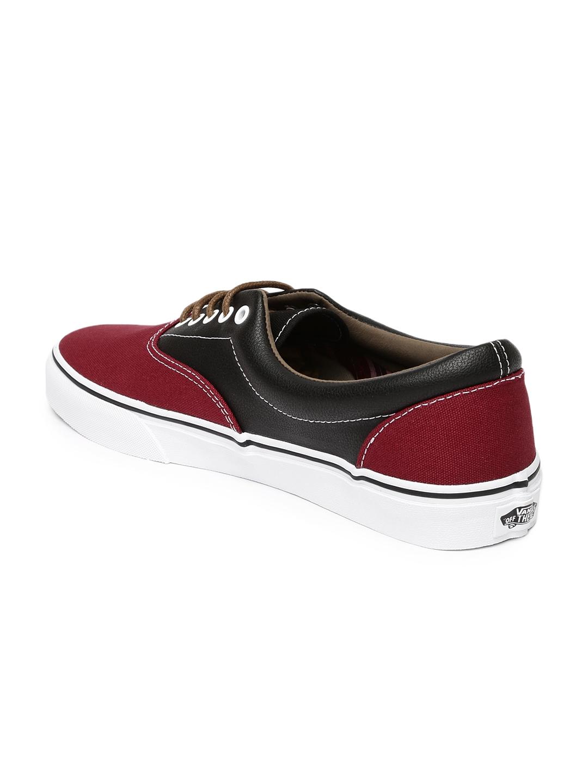 Buy Vans Men Maroon   Black Era Casual Shoes - Casual Shoes for Men ... 9354ce145