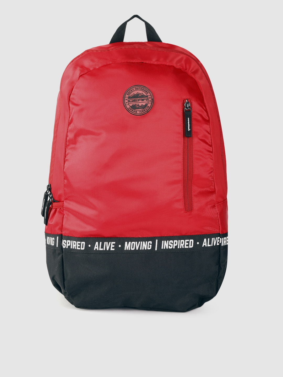 Gear Unisex Red   Black Colourblocked 18 Inch Laptop Backpack