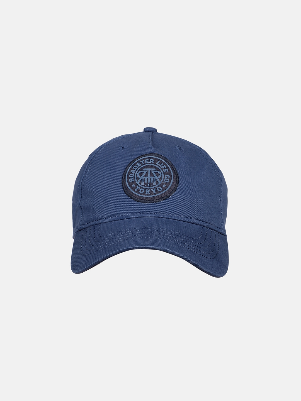 Roadster Unisex Navy Blue Printed Baseball Cap