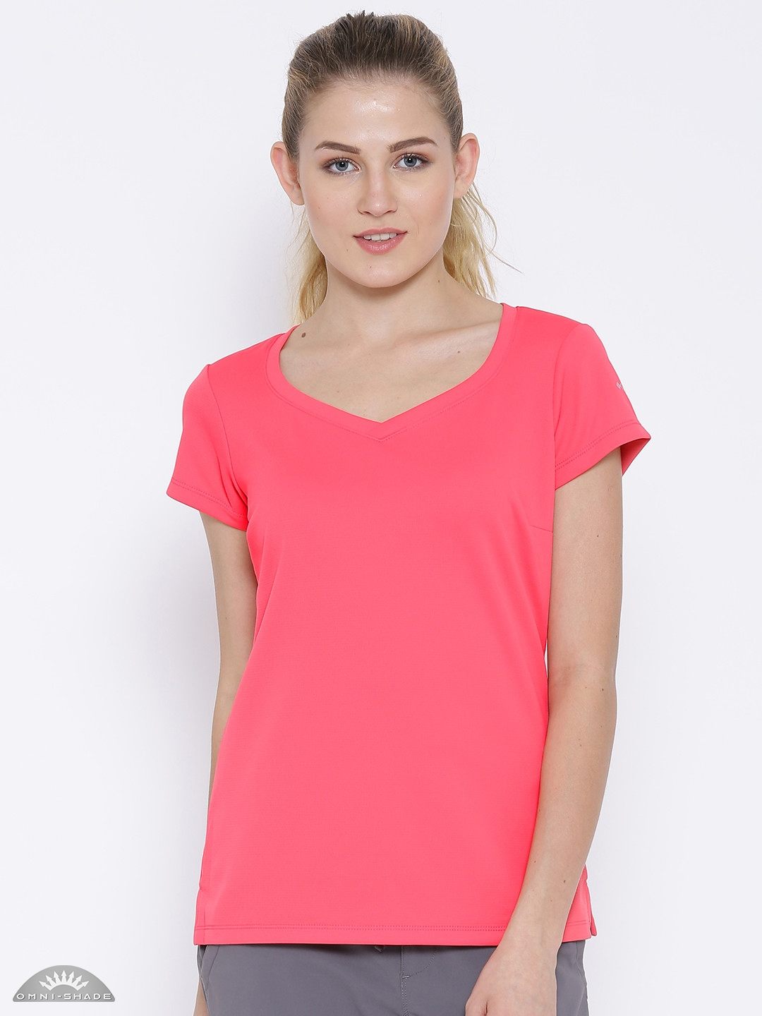 6435b23f4f8 Buy Columbia Pink Polyester Innisfree Outdoor T Shirt - Tshirts for ...