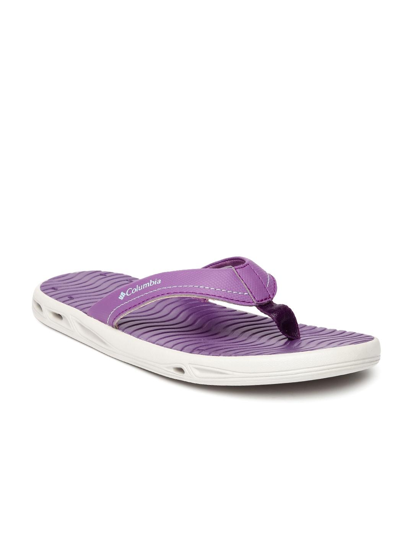 ac3fd2049586 Buy Columbia Women Purple Vent Cush Anti Slip Outdoor Flip Flops ...