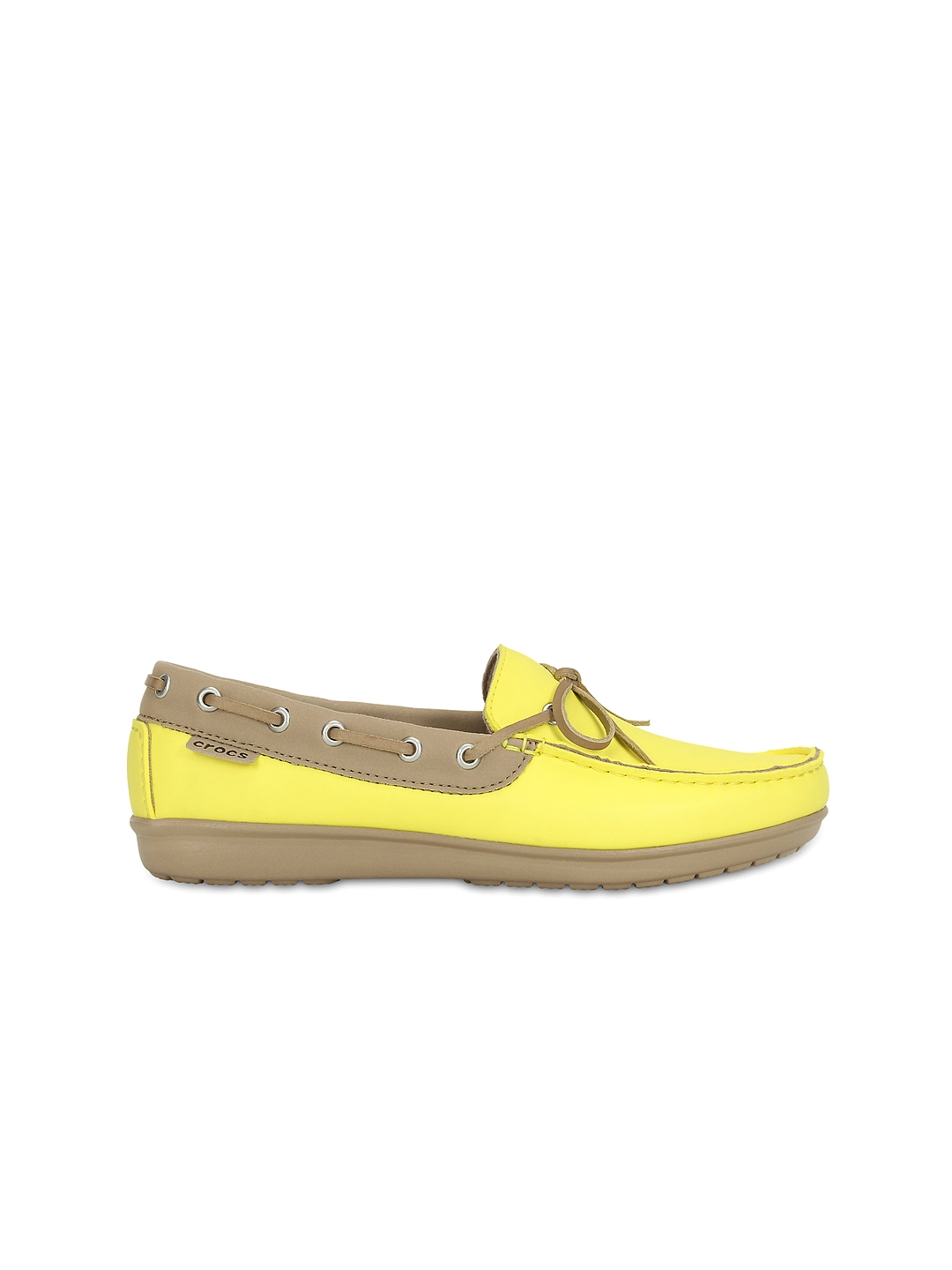 2bc83dba1 Buy Crocs Women Yellow Handcrafted Boat Shoes - Casual Shoes for ...