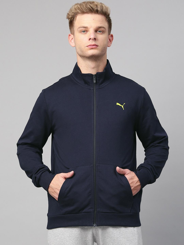Puma Men Navy Camo Box Graphic Full Zip Sweatshirt