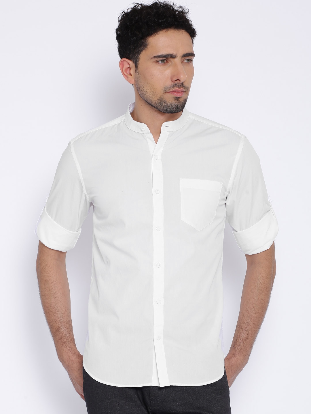 Buy Highlander White Slim Fit Casual Shirt - Shirts for Men | Myntra