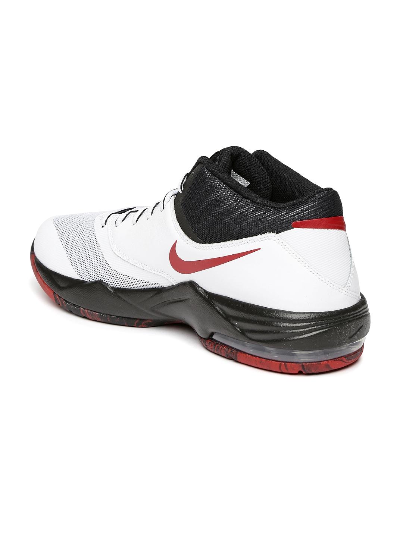 online store 6fd1c 3d393 Nike Men White   Black Air Max Emergent Basketball Shoes