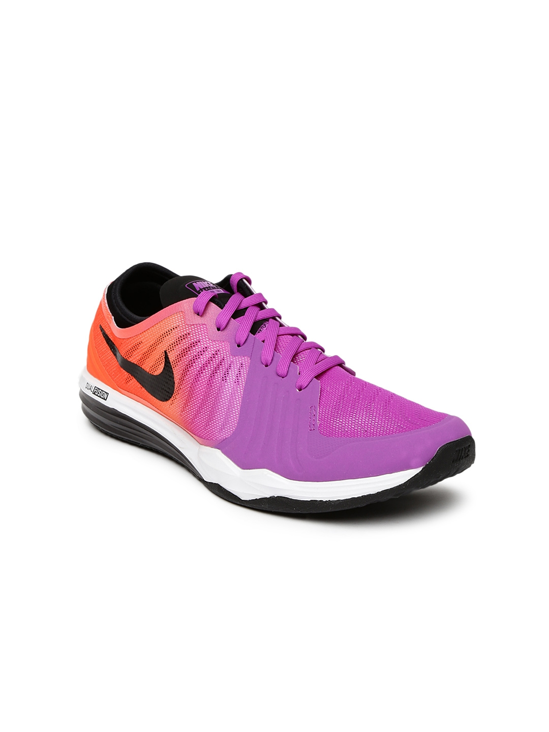 7c87fbfae7136 Buy Nike Women Purple   Orange Dual Fusion TR 4 Printed Training Shoes -  Sports Shoes for Women 1267308