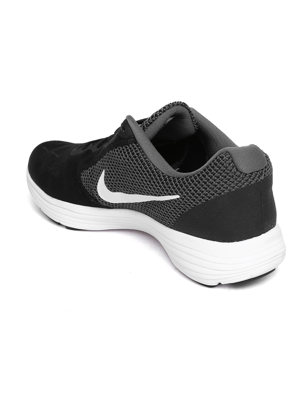 3cd18aab0ac Buy Nike Men Back   Grey Revolution 3 Running Shoes - Sports Shoes ...