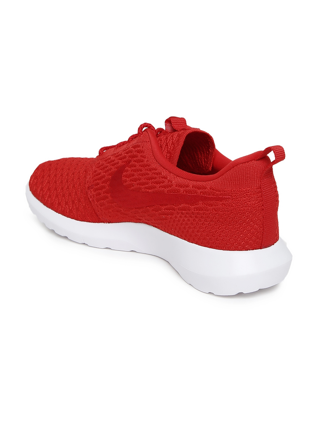 best service c80c5 e6bf7 Nike Men Red Roshe Flyknit NSW Casual Shoes