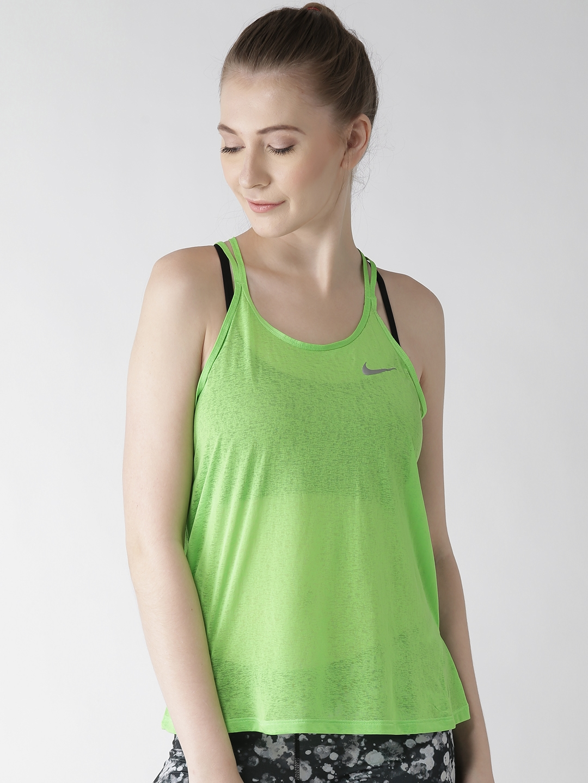 21e06bbe82af Buy Nike Green AS DF Breeze Racerback Tank Top - Tops for Women ...