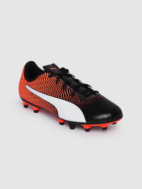 Puma Boys Orange Rapido II FG Jr Football Shoes