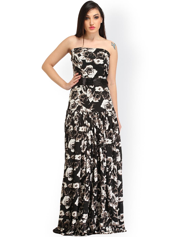 c75e39c5c17f Buy Cation Black Floral Print Maxi Dress - Dresses for Women 1269652 ...
