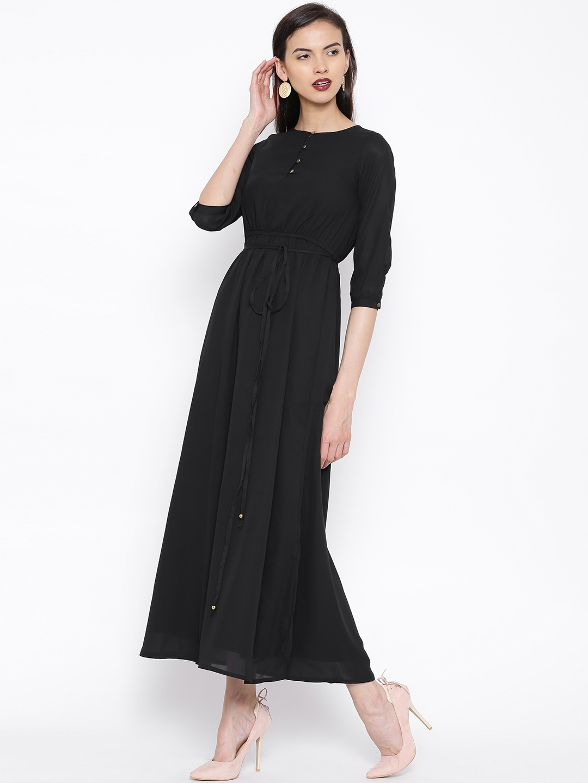 c70f8d987 Buy Tokyo Talkies Black Maxi Dress - Dresses for Women 1270024