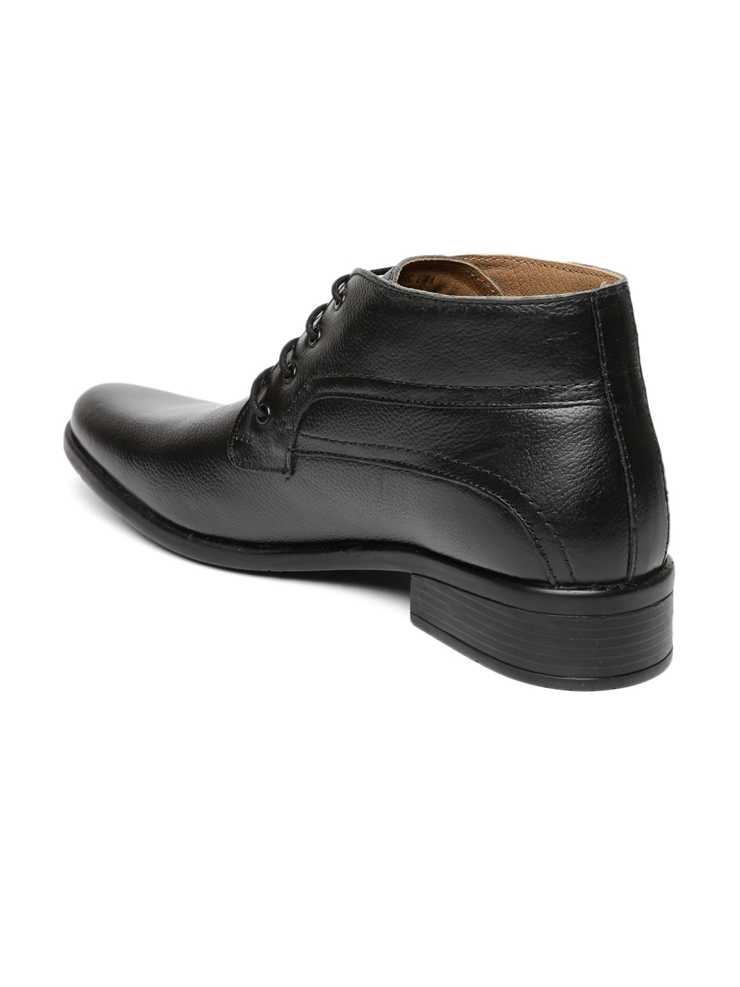 Buy Red Chief Men Black Genuine Leather High Top Derby Formal Shoes