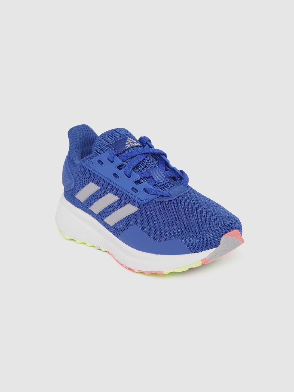 ADIDAS Kids Blue Woven Design Duramo 9 Running Shoes
