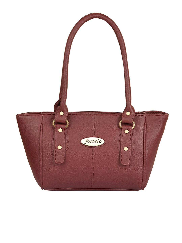 Fostelo Maroon Solid Shoulder Bag