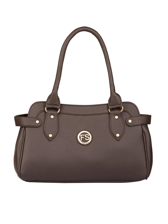 Fostelo Brown Solid Kelly Style Handheld Bag