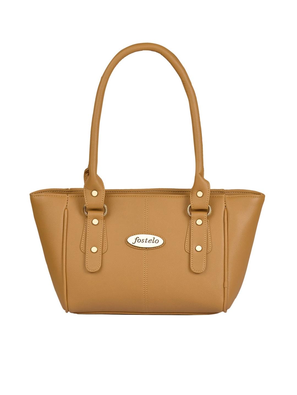Fostelo Beige Solid Shoulder Bag
