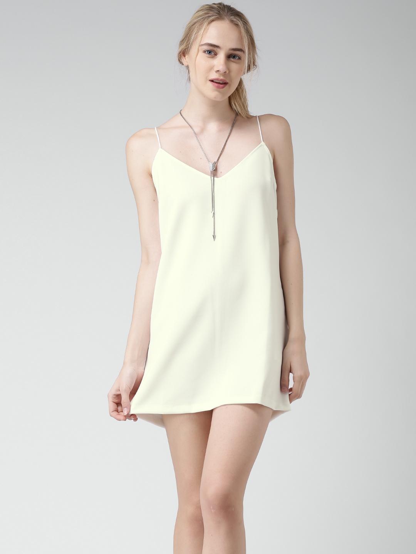 dcc8eefdf7 Buy FOREVER 21 Off White Shift Dress - Dresses for Women 1278228 ...