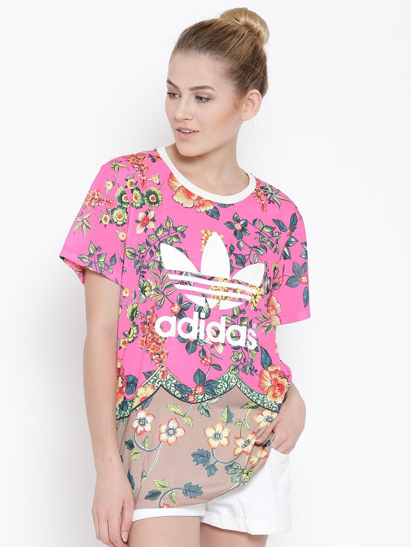 adidas floral t shirt dress