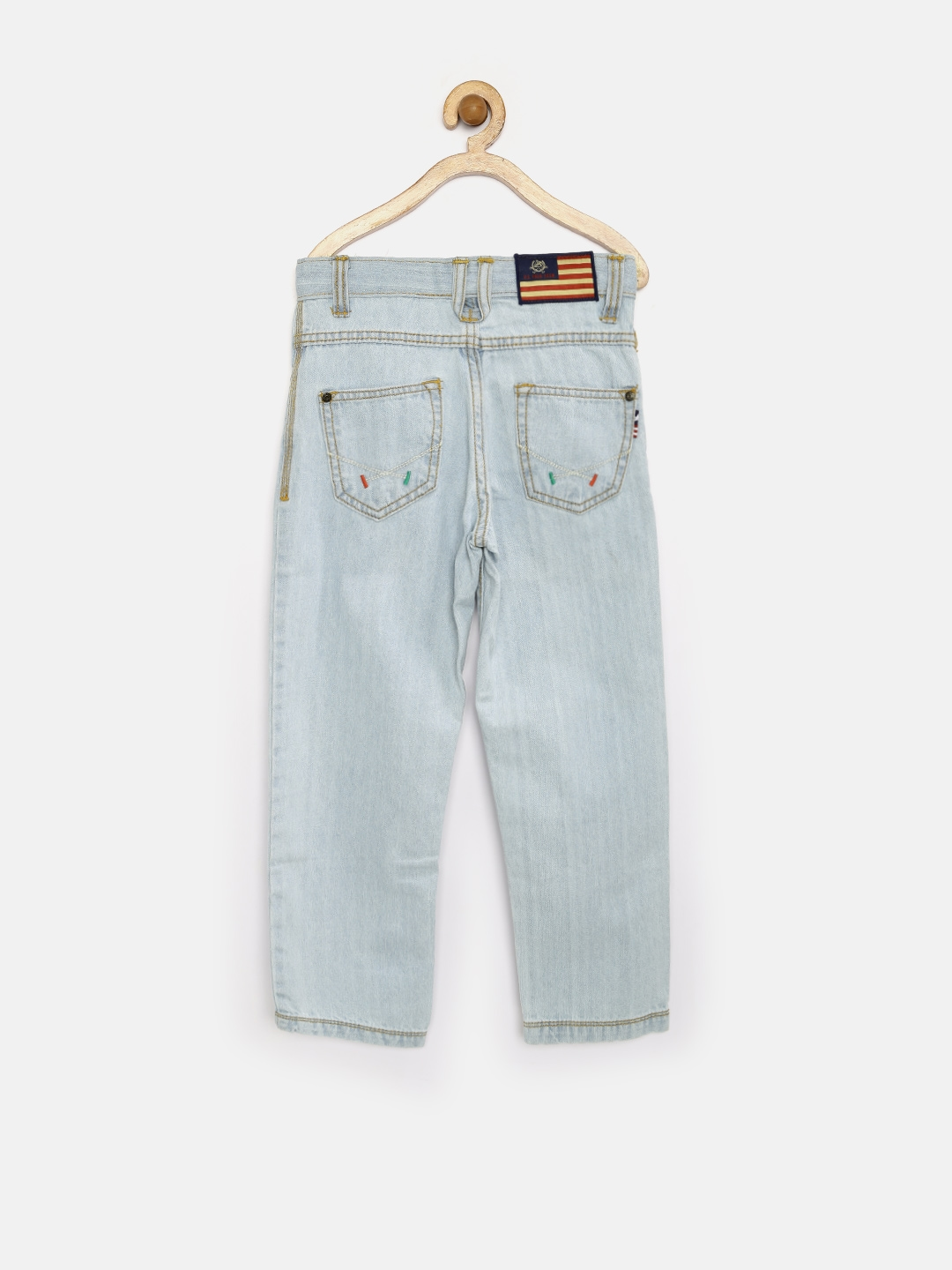 210c57d689 Buy U.S. Polo Assn. Kids Boys Light Blue Washed Jeans - Jeans for ...