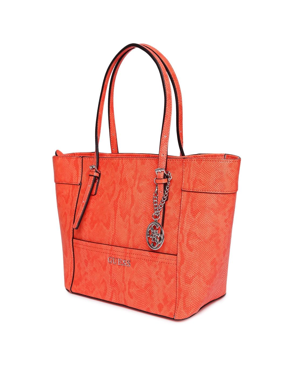 d3f285ed59dd Buy GUESS Orange Croc Patterned Shoulder Bag - Handbags for Women ...