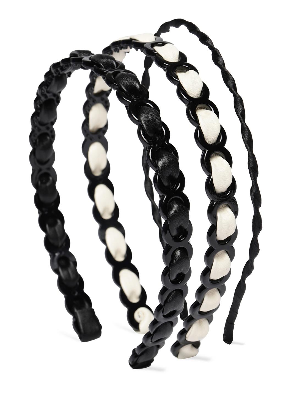 Ayesha Black   White Set of 3 Hair Band