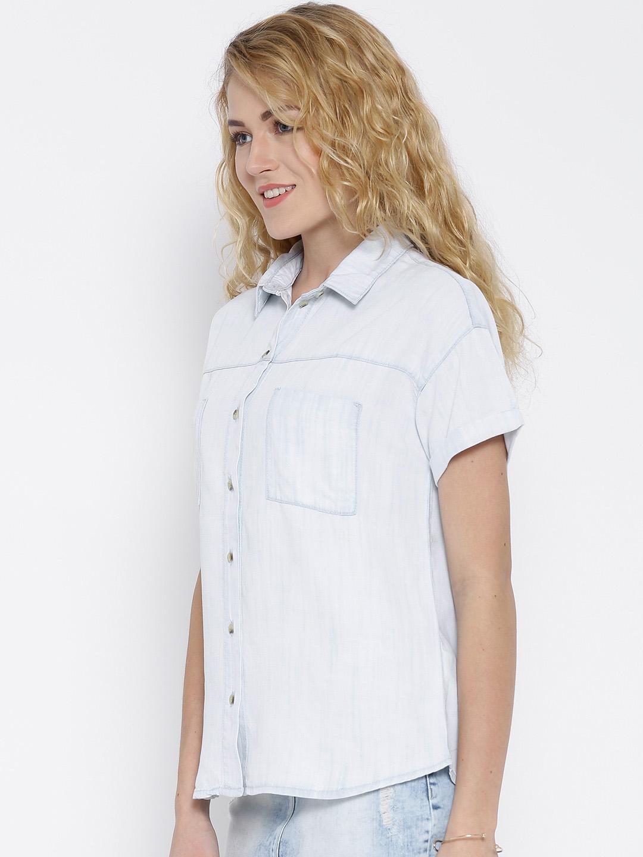 e71b49cdda Buy United Colors Of Benetton Off White Washed Denim Shirt - Shirts ...