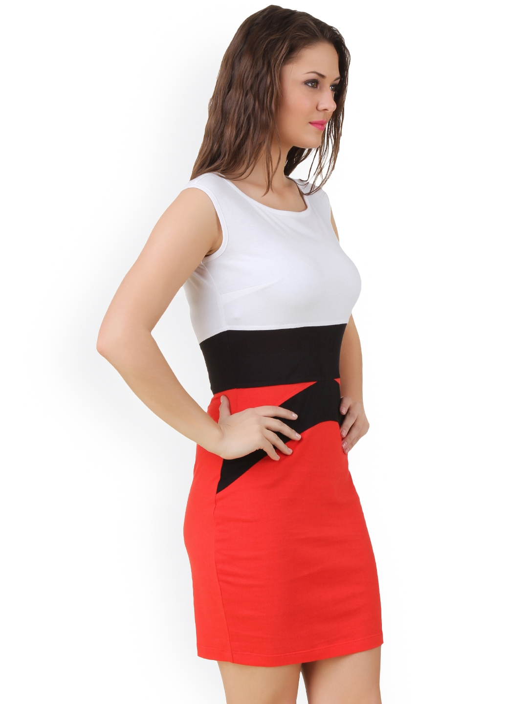 abe69afd4b Buy Texco White   Red Bodycon Dress - Dresses for Women 1291950