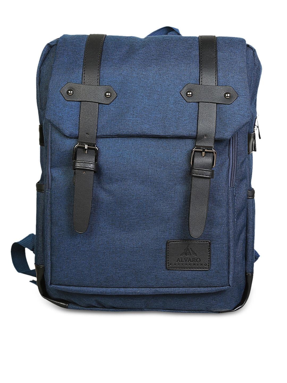 Alvaro Castagnino Men Blue Backpack Alvaro Castagnino Backpacks