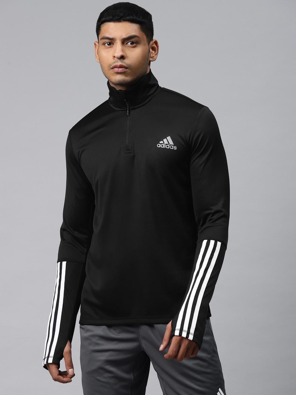 Adidas Men Black Intuitive Warmth Solid Sweatshirt