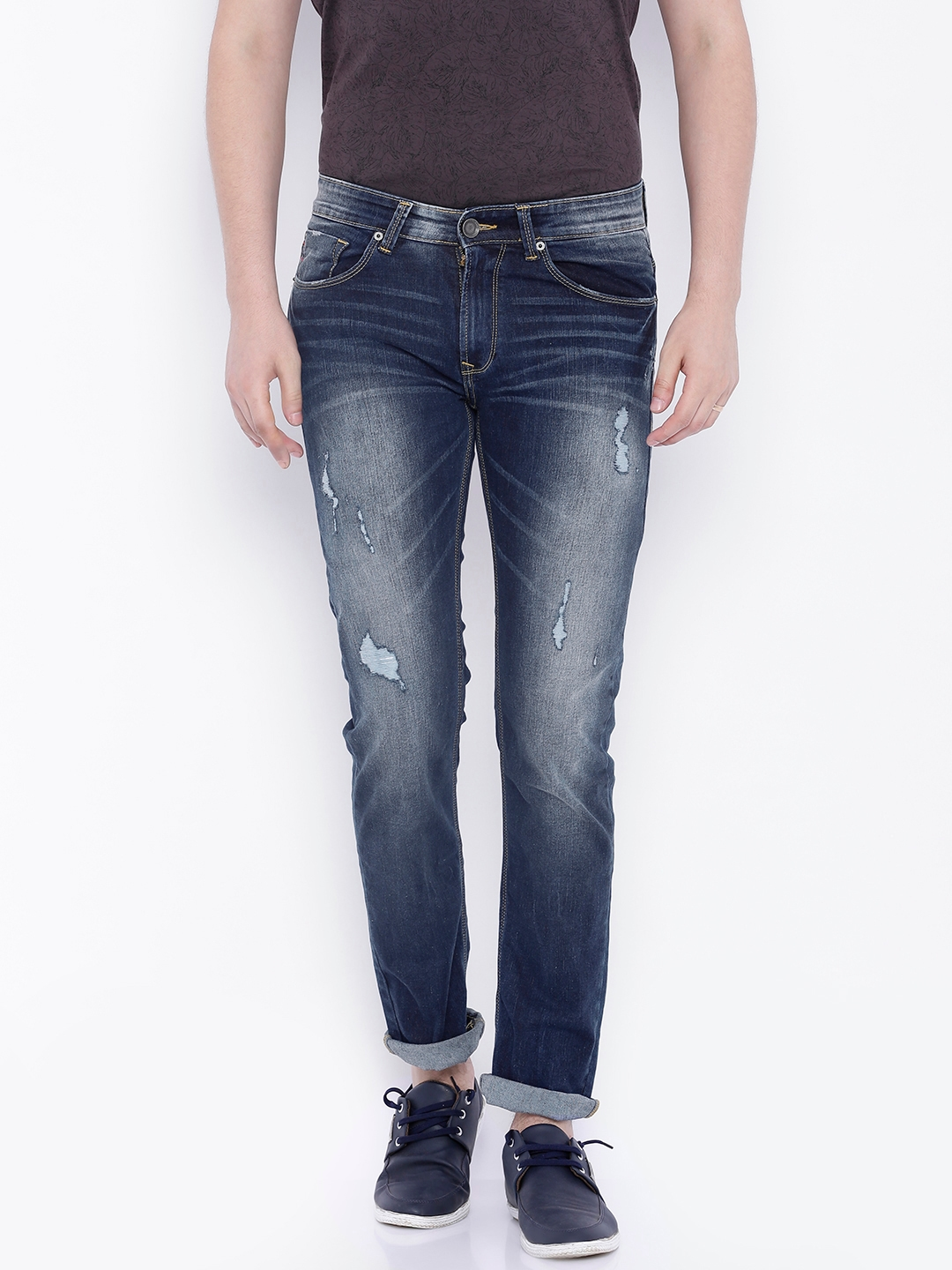 351a2be69660 SPYKAR Navy Rover Fit Stretchable Jeans