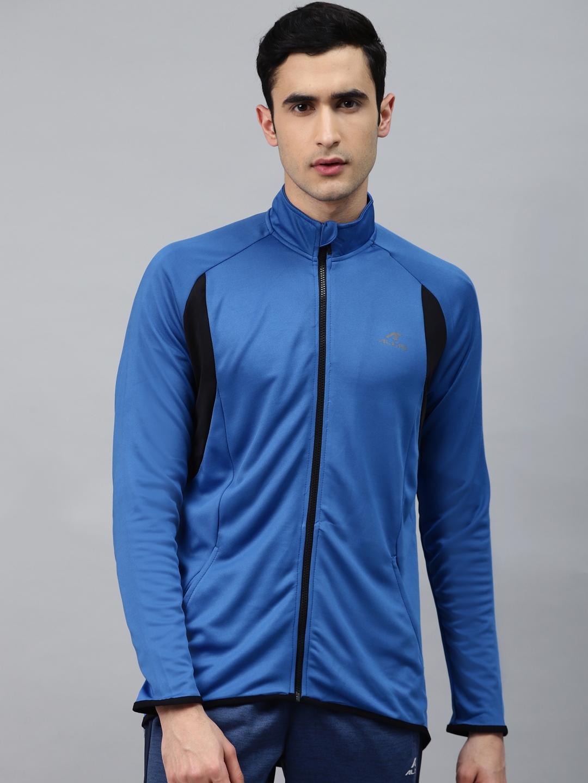 Alcis Men Blue Solid Training Jacket