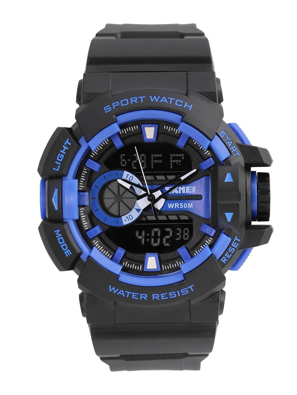 Skmei Men Black Analogue and Digital Watch 1117