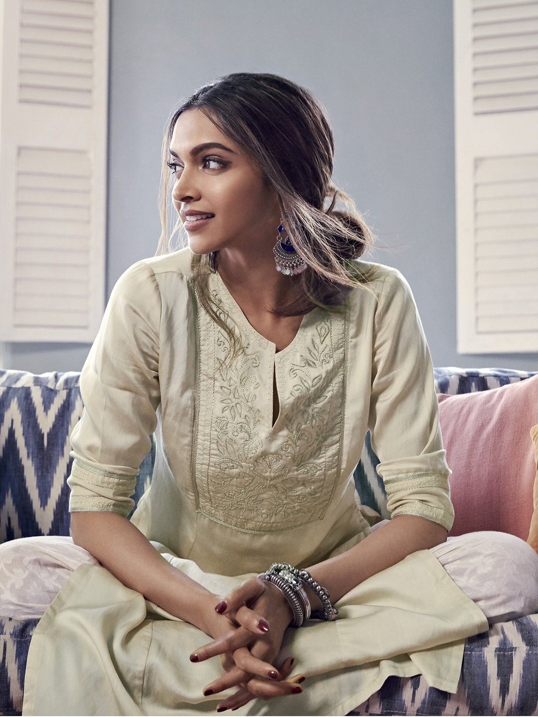 Buy All About You From Deepika Padukone Beige Embroidered ...