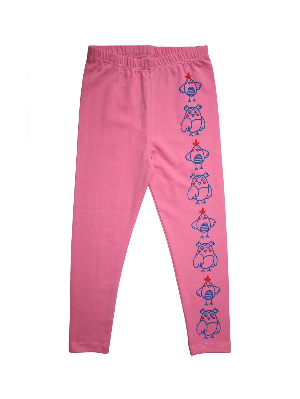 KiddoPanti Girls Pink Printed Legging