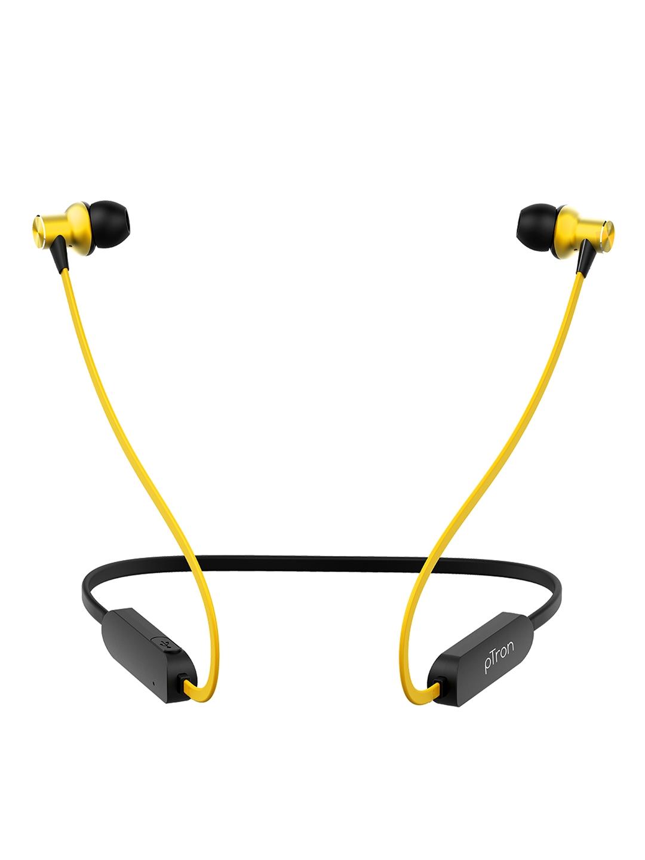 pTron Unisex Black   Yellow Avento Classic Bluetooth 5.0 Wireless Headphones