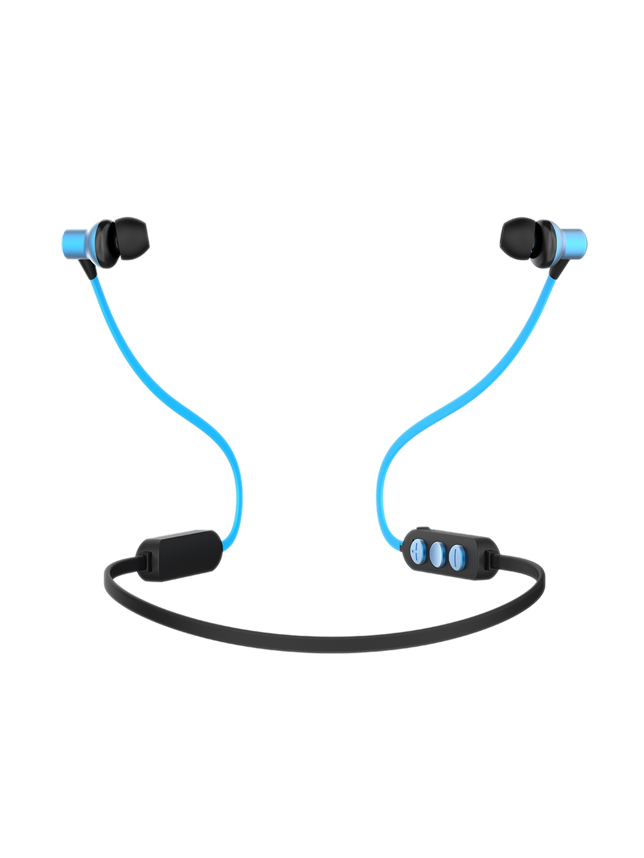 pTron Unisex Black   Blue Avento Classic Bluetooth 5.0 Wireless Headphones