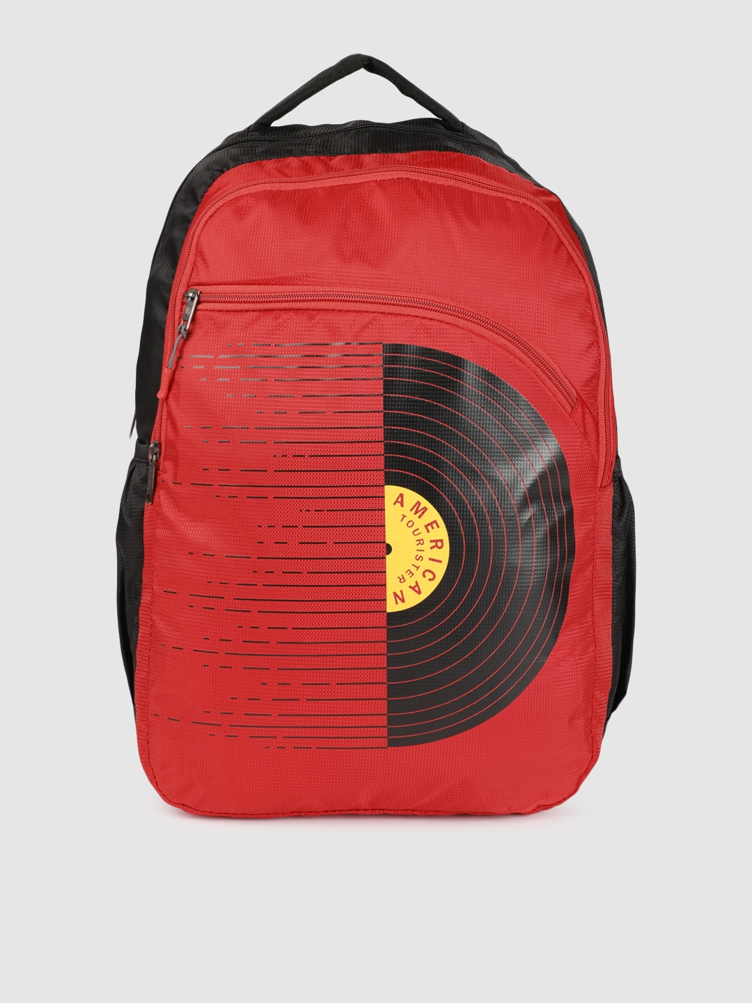 AMERICAN TOURISTER Unisex Red   Black Graphic AMT TIMBO+ Backpack