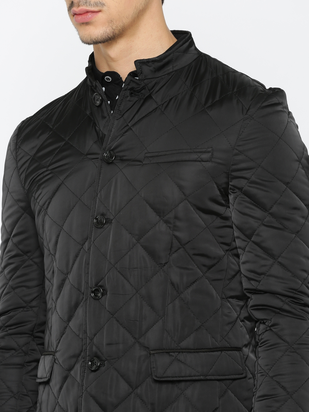 Buy Invictus Black Slim Fit Quilted Jacket Jackets For Men Myntra