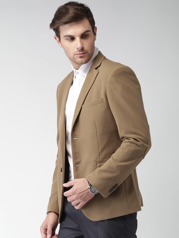 bd916c0e0cde Buy INVICTUS Brown Slim Fit Single Breasted Formal Blazer - Blazers ...