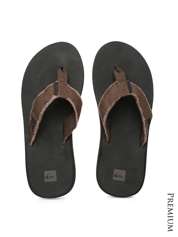 065364d9f2fbd1 Buy Quiksilver Men Brown   Black Flip Flops - Flip Flops for Men 1318129