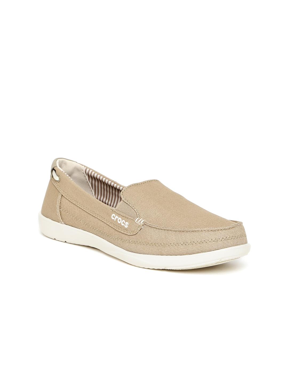 Buy Crocs Women Beige Slip On Sneakers