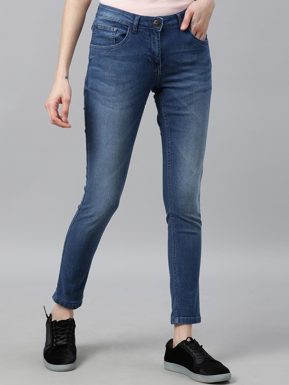 Park Avenue Woman Blue Slim Fit Jeans