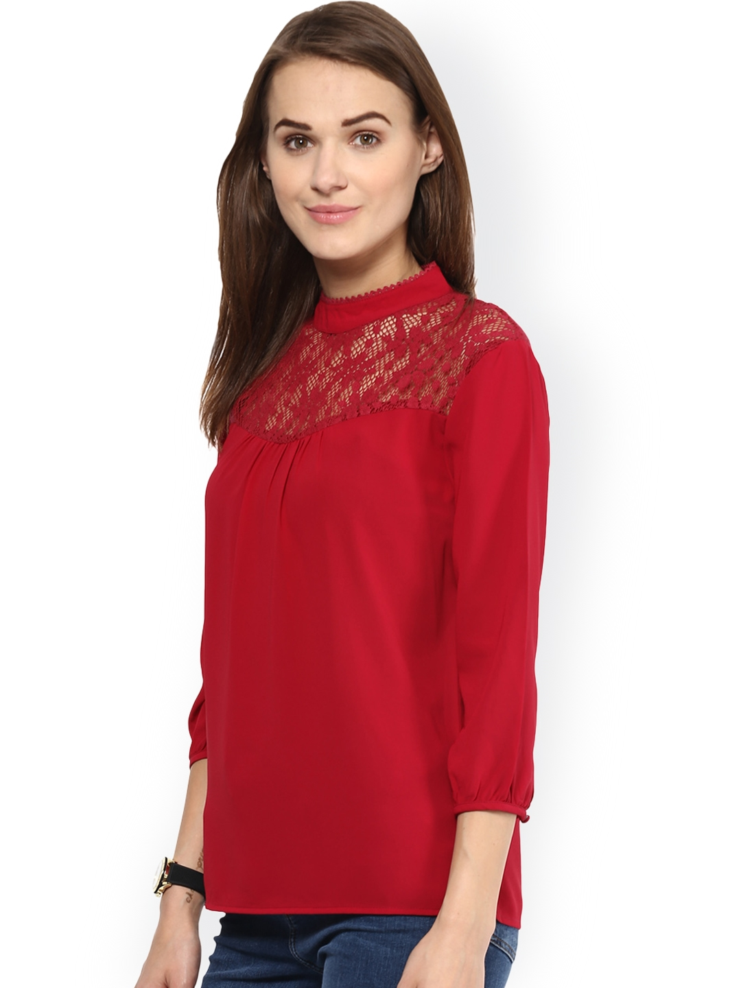 ae541d52ecb316 Buy Harpa Red Top - Tops for Women 1321190