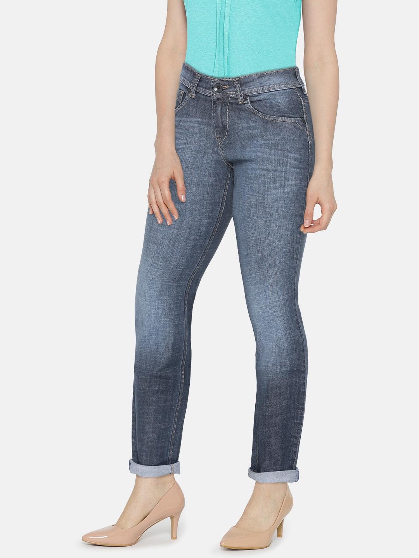 de758435205 Buy Pepe Jeans Blue Washed Elite Slim Fit Jeans - Jeans for Women ...