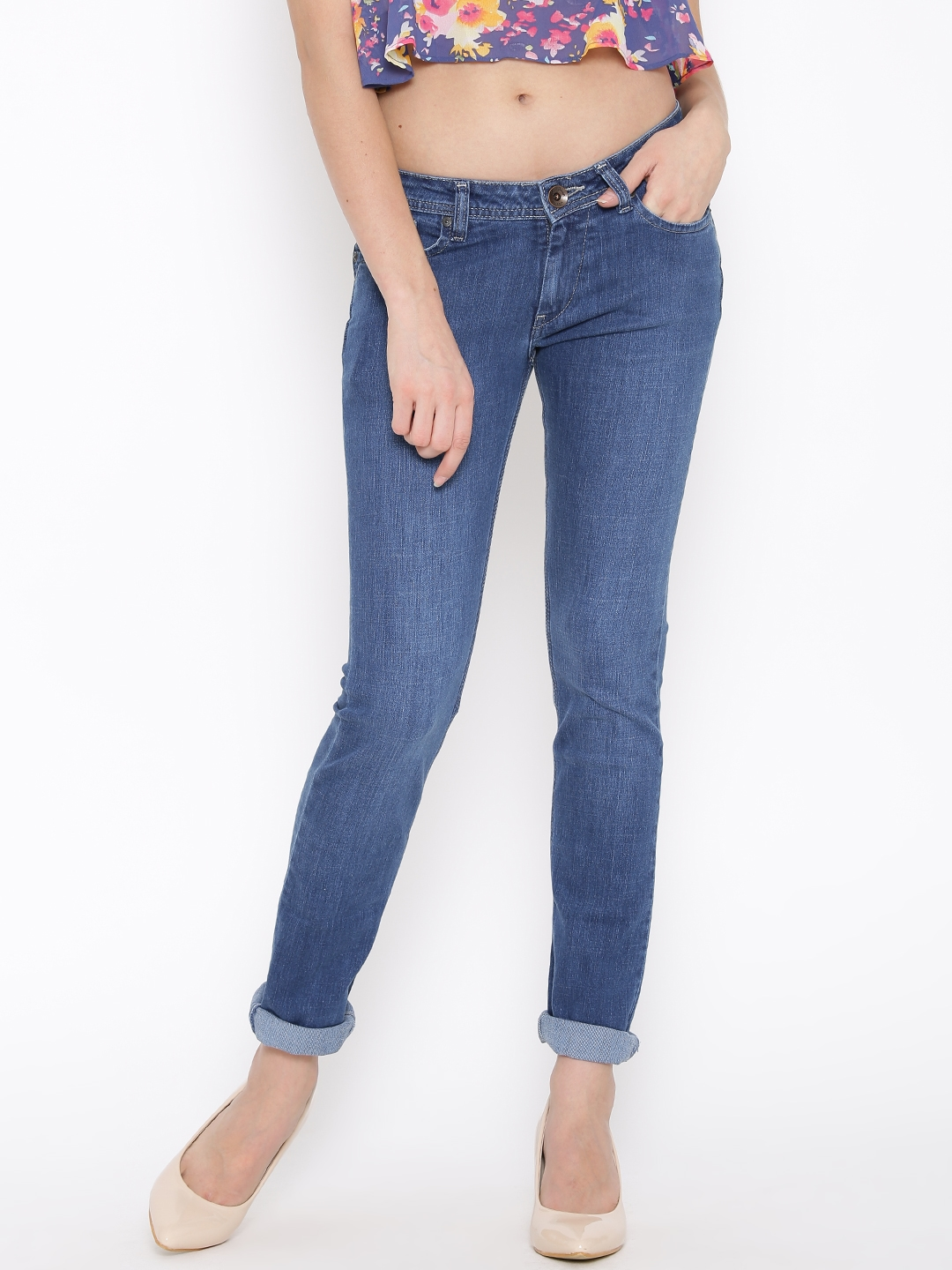 afaee3db5ee Buy Pepe Jeans Blue Frisky Slim Fit Jeans - Jeans for Women 1324788 ...
