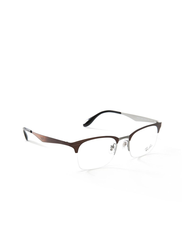 d170a2dc380 Buy Ray Ban Unisex Brown Half Rim Square Frames 0RX6360286249 ...