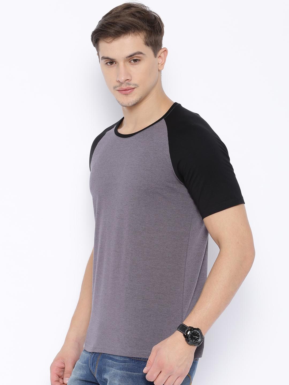 f10eb3e0b08c9 Buy Highlander Grey   Black T Shirt - Tshirts for Men 1327790