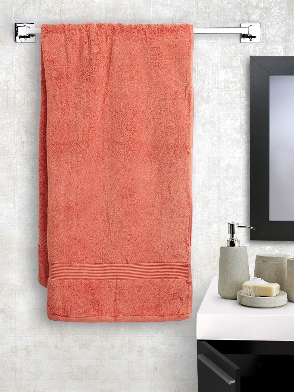 Es Orange Cotton 545 Gsm Bath Towel