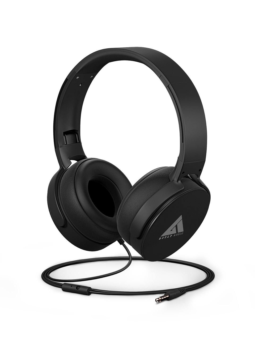 BOULT AUDIO Unisex Black Bass Buds Q2 Over Ear Wired Headphones